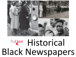 Access the Pittsburgh Courier & other newspapers with ProQuest Historical Newspapers: Black Newspaper Collection